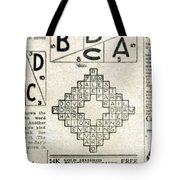 Crossword Puzzle, 1913 Tote Bag