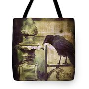 Crow On Iron Gate Tote Bag