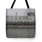 Crowd Of Devotees Inside The Golden Temple Tote Bag