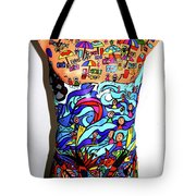 Crowded Beach Activities Tote Bag