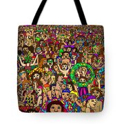 Crowded Swimming Pool Tote Bag