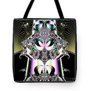 Crown And Jeweled Lotus Flowers Fractal 124 Tote Bag