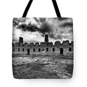 Crown Point Barracks Black And White Tote Bag