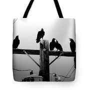 Crows And Insulators On Route 66 Tote Bag