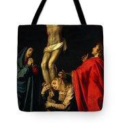 Crucification At Night Tote Bag