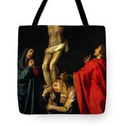Crucification At Night Tote Bag