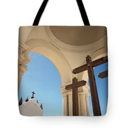 Crucifix At Basilica Of Our Lady Of Tote Bag