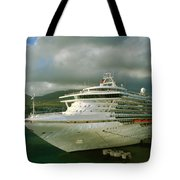 Cruise Ship In Port Tote Bag