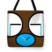 Crying Monkey In Clock Faces Tote Bag