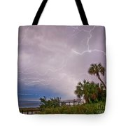 Crystal Beach Electrified Tote Bag