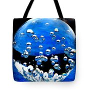 Crystal Drops From A Global View Tote Bag