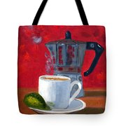 Cuban Coffee And Lime Red R62012 Tote Bag