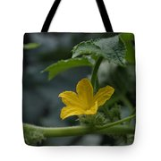 Cucumber Flower Tote Bag