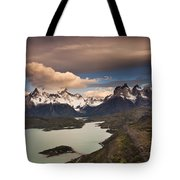 Cuernos Del Paine And Lago Pehoe Tote Bag