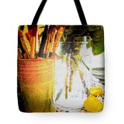 Cup O Brushes Tote Bag