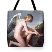 Cupid Sharpening His Arrows Tote Bag