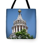 Cupola Atop St Peters Basilica Vatican City Italy Tote Bag