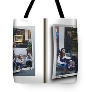Curb Resting - Gently Cross Your Eyes And Focus On The Middle Image Tote Bag