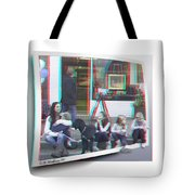 Curb Resting - Red-cyan 3d Glasses Required Tote Bag