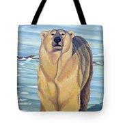 Curiosity - Polar Bear Painting Tote Bag