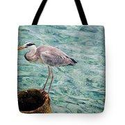 Curious Heron. Maldives Tote Bag