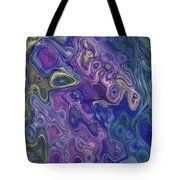 Curlyque Blue Abstract Tote Bag