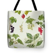 Currants And Berries Tote Bag by Elizabeth Rice