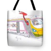 Cute Cartoon High Speed Train And Animals Tote Bag