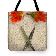 Cutting Flowers Tote Bag