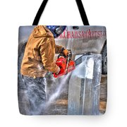 Cutting Ice Tote Bag