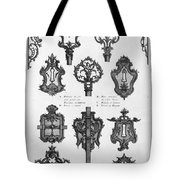 Cuvilli�s: Locks And Keys Tote Bag