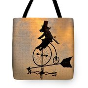 Cycling Pig Tote Bag