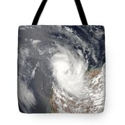 Cyclone Dominic Off The Shore Tote Bag