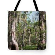 Cypress Trees And Water Hyacinth In Lake Martin Tote Bag