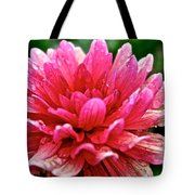 Dahlia Dew Drops Tote Bag