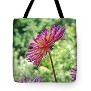 Dahlia Flower Art Print Green Summer Garden Tote Bag
