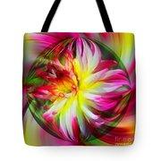 Dahlia Flower Energy Tote Bag