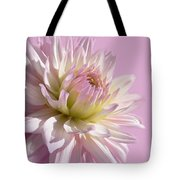Dahlia Flower Pretty In Pink Tote Bag