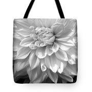 Dahlia In Black And White Tote Bag