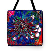 Dahlia With Intense Primaries Effect Tote Bag