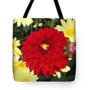 Dahlias And Daisys Tote Bag