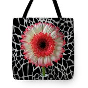 Daisy And Graphic Vase Tote Bag