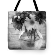 Daisy Crazy Bw Revisited Tote Bag