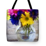 Daisy Crazy Revisited Tote Bag