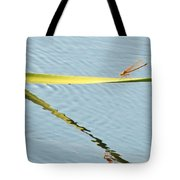 Damselfly Reflection Tote Bag