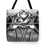 Dance Of The Black And White Calla Lilies Vi Tote Bag