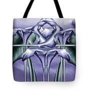 Dance Of The Blue Calla Lilies Iv Tote Bag