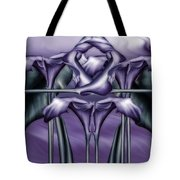Dance Of The Purple Calla Lilies V Tote Bag