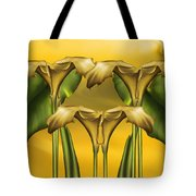Dance Of The Yellow Calla Lilies Tote Bag