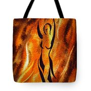 Dancing Fire V Tote Bag